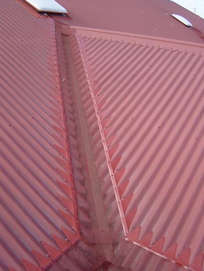 Valley Corro Red Roof Steel Profiles